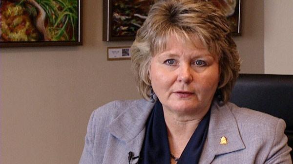 Waterloo Mayor Brenda Halloran discusses the rapid transit poll on Wednesday, May 25, 2011.