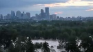 Downtown Calgary was surrounded by water after the Bow blew its banks at the end of June.