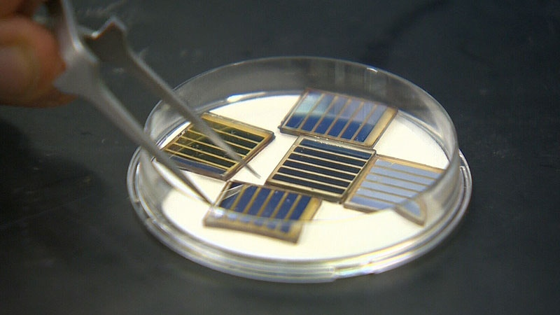 U of A researchers have created small solar panels using zinc and phosphorus