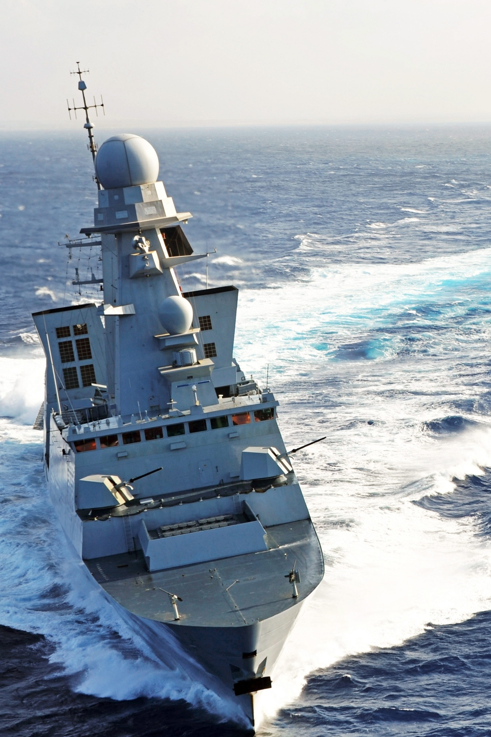 This image provided by the French Navy shows Frenh Navy frigate Chevalier Paul at sea. The French military is ready to commit forces to an operation in Syria if President Francois Hollande decides to do so, the defense minister said.