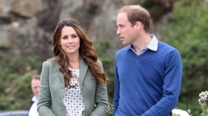 The Duke and Duchess of Cambridge arrive at Breakwater Country Park for the start of the Ring O' Fire Anglesey Coastal Ultra Marathon in Anglesey, Wales, Friday, Aug. 30, 2013. (AP / Paul Lewis)