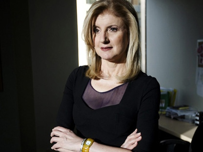 Arianna Huffington, co-founder of the Huffington Post, poses in Toronto on Monday, Nov. 29, 2010. (THE CANADIAN PRESS/Darren Calabrese)