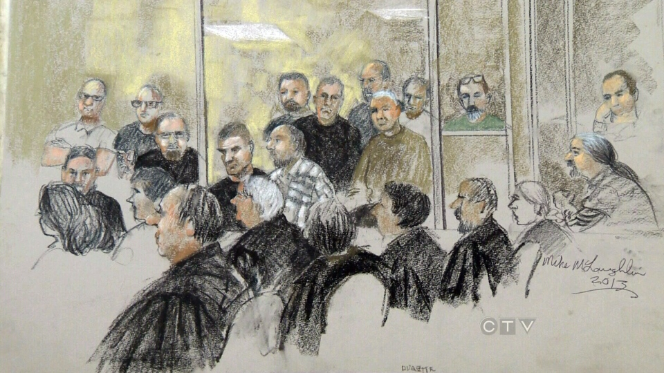 Twenty-seven outlaw bikers who were rounded up in a vast police operation in 2009 have pleaded guilty in Quebec to reduced charges of conspiracy to commit murder. (Mike McLoughlin)