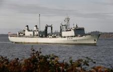 Two Canadian warships collide