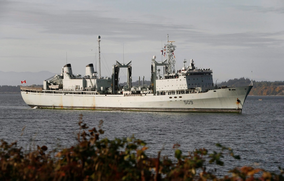 HMCS Protecteur in Victoria on Friday Oct. 24, 2008. (Deddeda Stemler / THE CANADIAN PRESS)