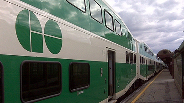 A GO Transit train is seen in this undated file photo. (Perry St. Germain / CP24.com)