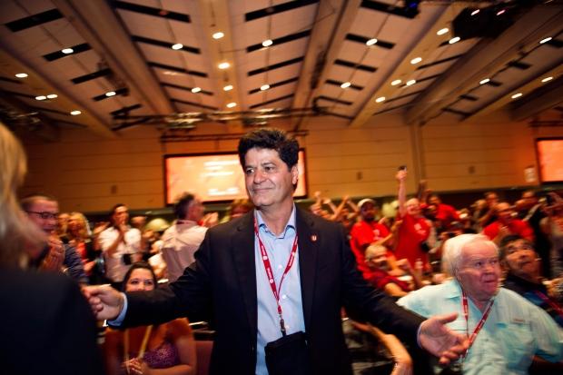Jerry Dias, elected president of Unifor union