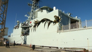 Canadian warships collide