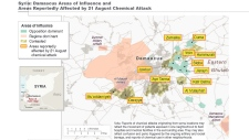 Chemical attack map Syria