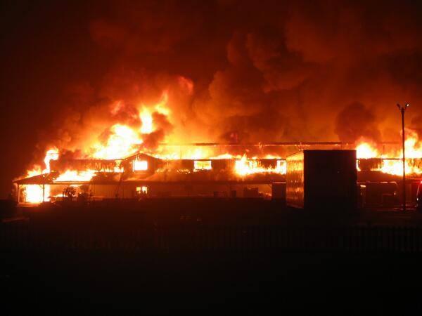 Major overnight fire destroys market building