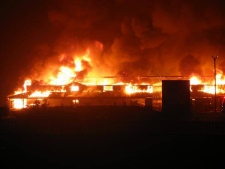 Major overnight fire destroys market building