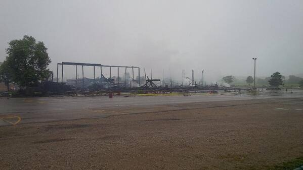 Aftermath of major fire at St. Jacobs market