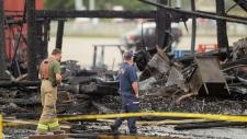 St. Jacobs Famers' Market fire near Waterloo, Ont.