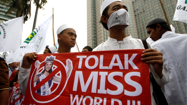 Protests against Miss World in Indonesia