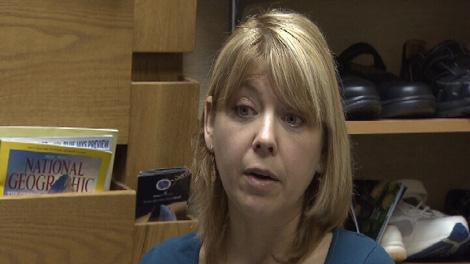 Podiatrist Tammy Gracen speaks to reports on Friday, May 27, 2011. (CTV)