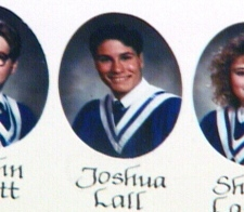 Joshua Lall is seen in his 1990 graduating class from the Our Lady of Lourdes High School in Guelph, Ont. in this image obtained by CTV Southwestern Ontario.