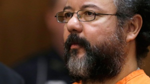 Ariel Castro sits in the courtroom during the sentencing phase in Cleveland on Thursday, Aug. 1, 2013.  (AP / Tony Dejak)