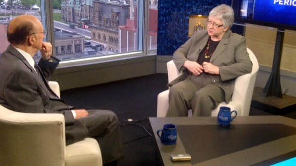 Auditor General Sheila Fraser appears on CTV's Question Period, Sunday, May 29, 2011. (Tom Michalak)
