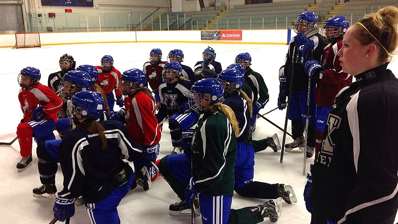 A total of 19 girls make up the St. Francis Xavier Midget AAA Female Hockey Academy, and took part in their first practice Wednesday, September 4.