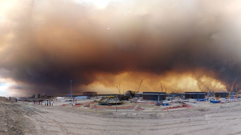 Smoke billows into the air from wildfires in northern Alberta. (Photo submitted by an anonymous CTV Viewer)