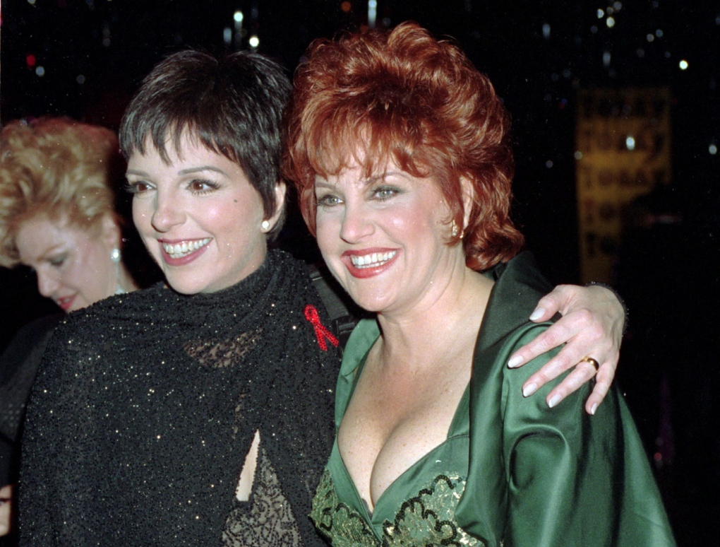 Liza Minnelli, left, and her sister Lorna Luft