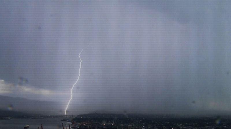 A thunder and lightning storm hit B.C.'s South Coast on Thursday evening. Sept. 5, 2013. (CTV)