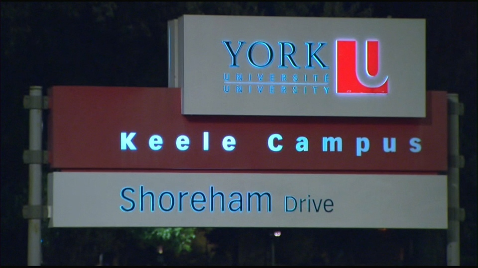 A sign is pictured at York University's Keele campus.
