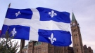 The Quebec flag is seen in this undated file photo. (Tom Hanson / THE CANADIAN PRESS)