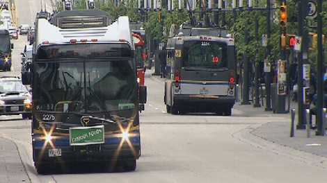 Translink has no plans to extend service hours in Metro Vancouver for the playoffs, May 30, 2011. (CTV)