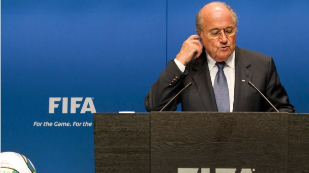 FIFA President Joseph S. Blatter talks to the media during a press conference in Zurich, Switzerland, Monday, May 30, 2011. (AP / Keystone / Alessandro Della Bella)