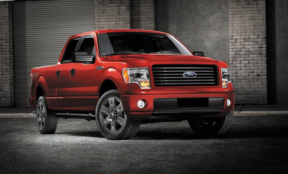 This undated photo provided by Ford shows the 2014 Ford F-150 STX SuperCrew truck (AP Photo/Ford)