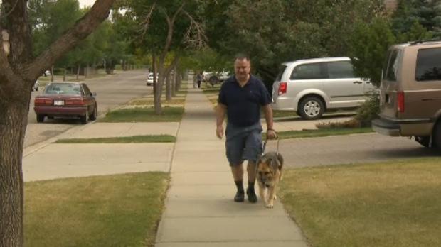 Robert Fenton and his service dog Precious