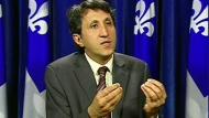 Amir Khadir speaks in Quebec City on Tuesday, May 31, 2011.