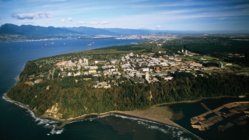 The University of British Columbia campus is seen in this aerial shot. (UBC)