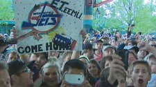 Fans celebrate at The Forks for the return of an NHL franchise to Winnipeg on May 31, 2011.