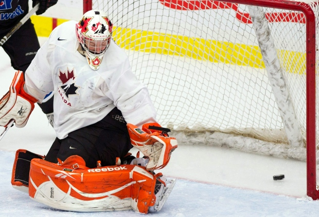 Canada's goalie Tyler Bunz