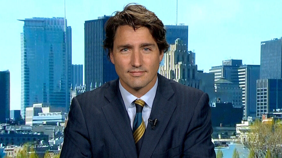 Liberal Leader Justin Trudeau appears on CTV's Question Period, Sunday, Sept. 8, 2013.