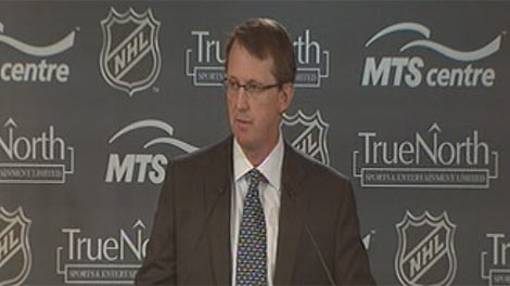 Mark Chipman, chairman of the True North board, speaks at the announcement Tuesday, May 31, 2011 in Winnipeg.