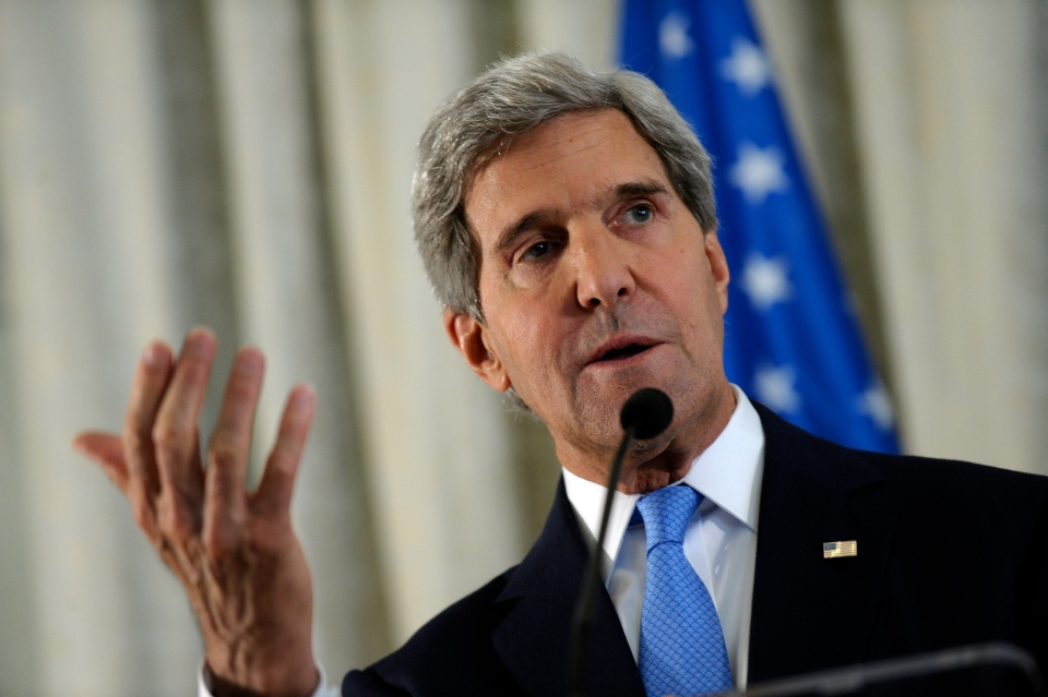 U.S. Secretary of State John Kerry answers a question during a news conference at the United States Embassy in Paris on Sept. 8, 2013. (AP / Susan Walsh)