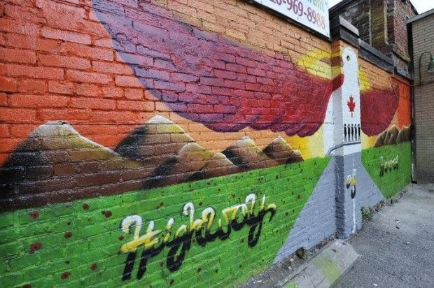 Before: The Highway of Heroes mural
