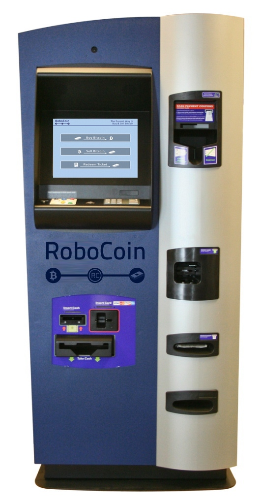 A Bitcoin kiosk is shown in a handout photo. ATMs that allow you to exchange cash for Bitcoins are coming to Canada this fall. (RoboCoin)