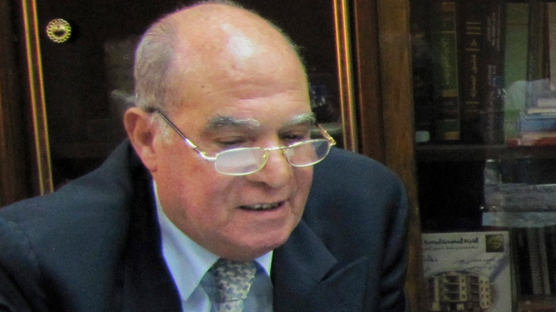 In this photo taken Thursday, July 15, 2010, Mahmoud Abdel Salam Omar, Chairman of the Egyptian state-run salt production company El-Mex Salines Co., and former chairman of Egypt's Bank of Alexandria, is seen at the company's headquarters in Alexandria, Egypt. (AP Photo)