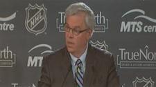 Premier Greg Selinger encouraged Manitobans to buy season tickets for the new NHL team in Winnipeg.