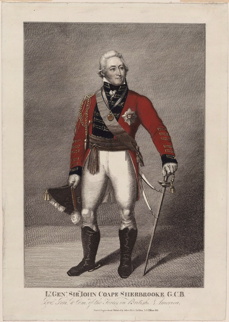 A portrait of Sir John Coape Sherbrooke is shown in a handout photo.