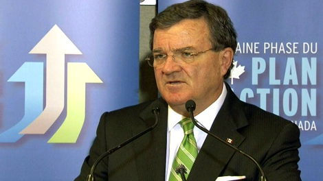 Finance Minister Jim Flaherty speaks during a press conference in Toronto, Tuesday, May 31, 2011.