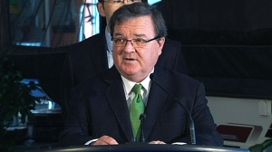 Finance Minister Jim Flaherty makes an announcement regarding insurance premiums, Monday, Sept. 9, 2013.