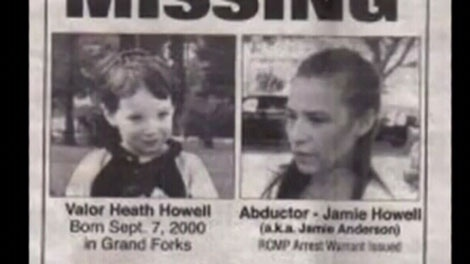 A Missing poster shows Valor Howell and his mother Jamie. June 1, 2011. (CTV)