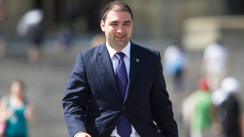Dimitri Soudas leaves Parliament Hill in Ottawa Wednesday June 1, 2011. (Adrian Wyld / THE CANADIAN PRESS)