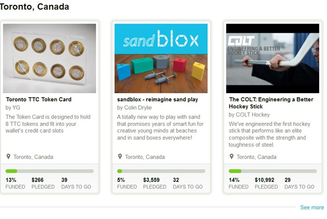 Kickstarter in Canada: TTC token holder, sandblox and a better hockey stick up for investment (Image from Kickstarter.com)