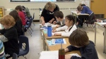 A B.C. teacher instructs students in this CTV News file photo.